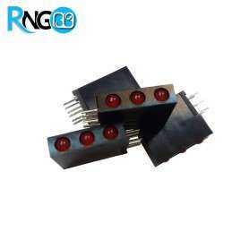 LED قابدار 3تایی قرمز رایت 3mm (بسته 10 تایی)