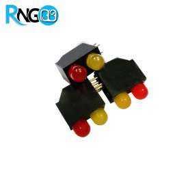 LED قابدار دوبل قرمز-زرد رایت 5mm (بسته 10 تایی)