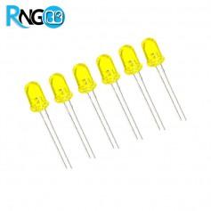 LED مات زرد 5mm