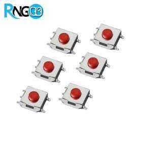 تک سوئیچ 4 پایه 6x6x3.1 SMD قرمز (بسته 10 تایی)
