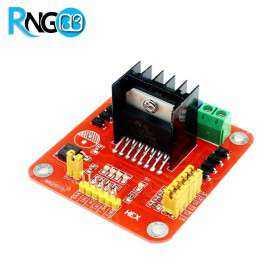 ماژول موتور درایور دو کاناله Dual Bridge با قابلیت درایو موتور پله ای ( stepper ) و دی سی L298