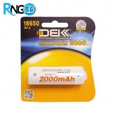 باتری لیتیوم یون 3.7v ظرفیت 2000mAh مارک DBK