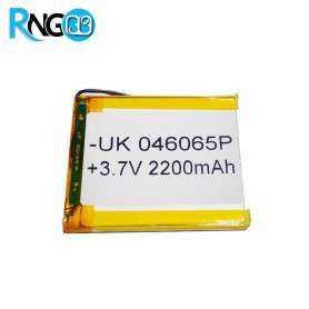 باتری لیتیوم پلیمر 3.7v-2200mAh سایز 046065 مارک UK