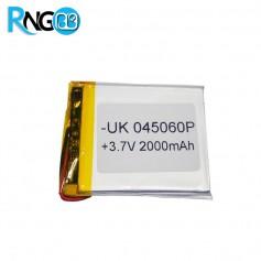 باتری لیتیوم پلیمر 3.7v-2000mAh سایز 045060 مارک UK