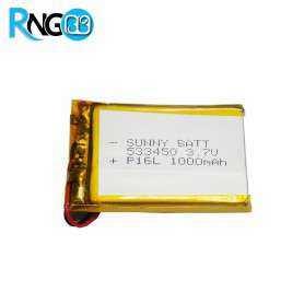 باتری لیتیوم پلیمر 3.7v ظرفیت 1000mAh مارک Sunny Batt مدل 533450