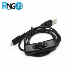 کابل USB به Micro USB تغذیه رسپبری پای مجهز به کلید On/Off
