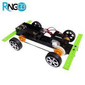 شاسی ربات 4 چرخ با موتور, تسمه و پولی