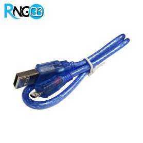 کابل تبدیل USB-A به USB-mini شیلددار 0.5 متری