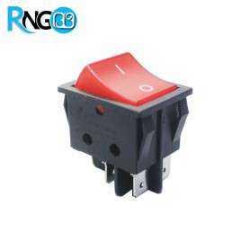 کلید راکر بزرگ استاندارد چراغدار قرمز