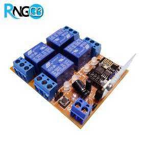 گیرنده 4 کاناله رادیویی 433MHz کدلرن کدفیکس