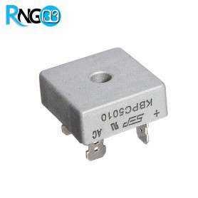 پل دیود 1000V / 50A فلزی تک فاز KBPC5010