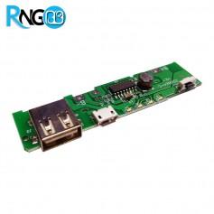 برد شارژ و دشارژ باتری لیتیومی 1A دارای نشانگر ظرفیت باتری و چراغ قوه (برد پاور بانک)