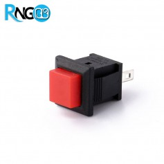 شستی فشاری مربعی پلاستیکی قرمز مدل PBS-430