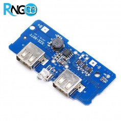 برد شارژ و دشارژ باتری لیتیومی 2A دارای نشانگر LED (برد پاور بانک)