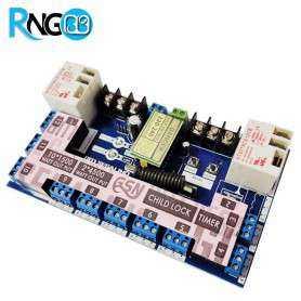 بسته فرستنده و گیرنده 12 کاناله 433MHz تایمر دار+ریموت مدل 220v