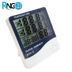 دماسنج ، رطوبت سنج و ساعت رومیزی مدل HTC-2A