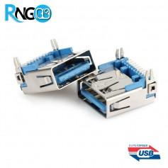 كانكتور USB-3-A مادگی SMD مجهز به پایه نگهدارنده
